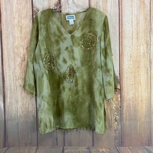 ➡️Tantrums Collection Sheer Tunic Size M